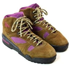 69e322937802 Vtg 90s HI TEC Brown Suede Leather Hiking Ankle Boots High Top Sneaker  Women 7.5