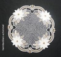 PLAUENER SPITZE ® Tischdeckchen WEIHNACHTEN Deckchen Tischdecke STERN 30cm Deko