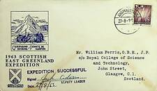 SCOTTISH 1963 GREENLAND SIGNED EXPEDITION COVER TO SCOTLAND - N43972