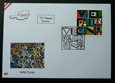 Austria Diversity 2013 Art Pattern Design Variety Various Culture (stamp FDC)