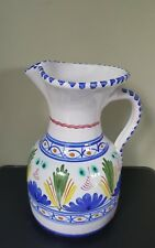Portugese or Spanish Hand Painted Water Pitcher/Jug