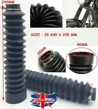 Rubber Front Fork Dust Protector Cover Gaiters Gators Boots Motorcycle 25x40x225