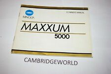 Minolta Maxxum 5000 Slr Camera Instruction Manual Guide Book Original Genuine