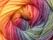 100gr Magic Light #22034 Pink Purple Blue Green Orange Ice Dk Acrylic Yarn 393y