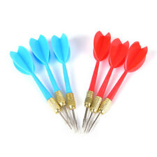6 Pack Red & Blue Steel Tip Brass Dart Set plastic dart flight throwing toy XC
