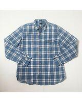 J.Crew Men's Oxford Blue/White Buffalo Plaid  t Size -M Button Down Shirt L/S