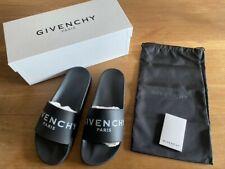 Givenchy Paris Slides Badelatschen Pantoletten - Gr. 44 / 10 - Schwarz - NEU/OVP
