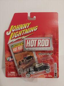 Johnny Lightning Hot Rod Magazine 1927 Ford Roadster White Lightning