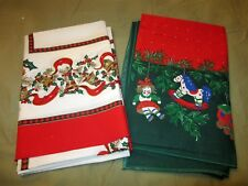 2 Unused Christmas Tablecloth 61 x 86 oblong Sunweave Brazil Ornaments & Bells