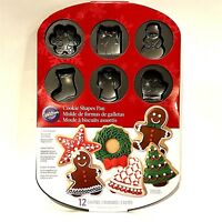 NEW Wilton Cookie Shape Pan Non-Stick Holiday Molds Christmas Snowman