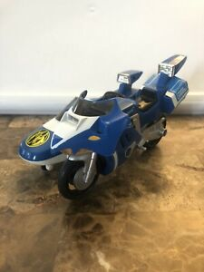 1993 Bandai Mighty Morphin Power Rangers Blue Triceratops Cycle With Side Car