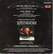 """SOUNDGARDEN / CHRIS CORNELL """"THE DAY I TRIED TO LIVE"""" SPANISH PROMO CD SINGLE"""
