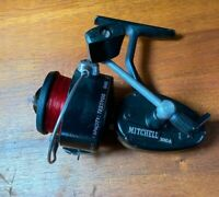 Vintage Mitchell 300A Spinning Fishing Reel Made In France Works Red Line Ratio
