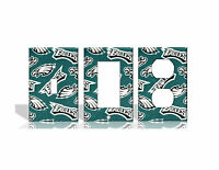 Philadelphia Eagles #2 Green Light Switch Covers Football NFL Home Decor Outlet