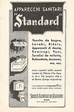W9979 Apparecchi Sanitari STANDARD - Pubblicità del 1931 - Old advertising
