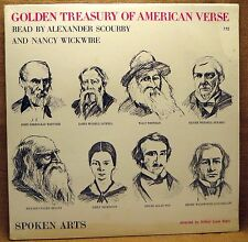 MONO POETRY LP : GOLDEN TREASURY OF AMERICAN VERSE, POE, WHITMAN, HOLMES SA 772
