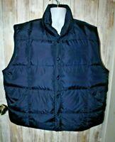 Land's End Men's Navy Blue Puffer Vest down filled XL