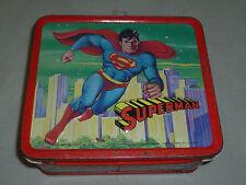 VINTAGE SUPERMAN LUNCH BOX PAIL RARE 1978 ALADDIN DC COMICS CHRISTOPHER REEVES >