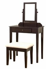 Frenchi Furniture 3 Pc Vanity Set in Espresso Finish , New, Free Shipping