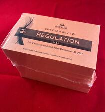Becker CPA Flash Cards Regulation v3.2 *NEW*Sealed*
