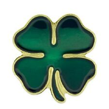 Green Four Leaf Clover Pin