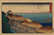 UW»Estampe d'Hiroshige - Watanabe - Tokaido Reisho - Mt Fuji -  Kanagawa 62 B13