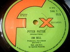 """JIM BELL - PITTER PATTER    7"""" VINYL"""