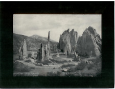 Vintage Mounted Photo - Cathederal Spires, Garden of the Gods, Colorado Springs