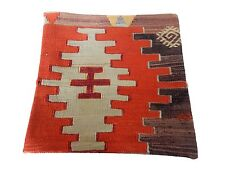 """Old Tribal Turkish Kilim Pillow Cover 16"""" by 16"""""""