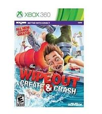 WIPEOUT CREATE AND CRASH XBOX 360 NEW! ALSO WORKS WITH KINECT! FUN FAMILY GAME!