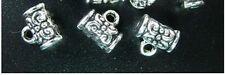150 PCSTibetan Silver spiral barrel bail FC144