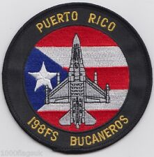 Puerto Rico Air National Guard 198th Fighter Squadron 1992 to 1998 Patch Badge