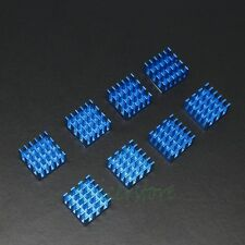 Aluminium Heatsink Cooler For DDR VGA RAM Memory IC Chipset Cooling 8pcs Blue