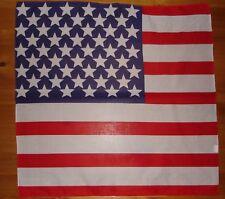 4d13a52eb11 USA AMERICAN FLAG BANDANA BANDANNA COTTON DURAG 22X22 HANKERCHEIF FREE  SHIPPING