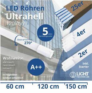 LED Röhre 60 120 150cm LED Tube T8 inkl Starter Leuchtstoffröhre LED Neonröhre