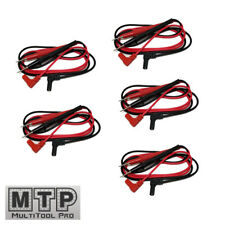 5 Pair Universal Probe Wire Cable Test Leads Pin Digital Multimeter Needle Tip