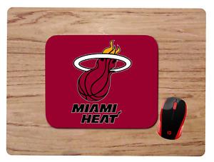 MIAMI HEAT custom neoprene nonslip MOUSEPAD MOUSE PAD HOME OFFICE GIFT NBA