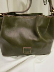 Stunning DOONEY & BOURKE FLORENTINE LEATHER MINI BARLOW Handbag $350 Fern