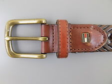 """Tommy Hilfiger $75 Brown MEN SIZE 39-40 WIDTH 1.25"""" CASUAL BELT BRAIDED A23"""