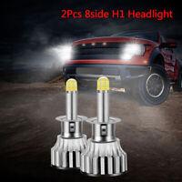 2Pcs 24 Chips H1 LED Lamp Car Headlight Bulbs LED 360 Degree 6500K 18000LMCRITTM