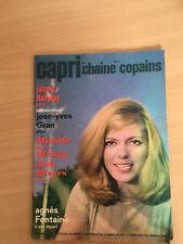 CAPRI LA CHAINE DES COPAINS N°96 07/1963 JOHNNY HALLYDAY DICK RIVERS F88