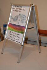 A2 Double Side Aluminium Pavement Sign Board Snap Frame With 2x Printed Posters