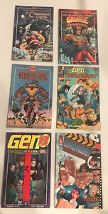 LOT OF 6 GEN 13 GRAPHIC NOVELS OGN - FF / GRUNGE/  XMAS  / LONDON NY HELL + MORE