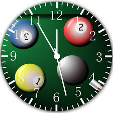 Pool Billiards Cue Frameless Borderless Wall Clock Nice For Gifts or Decor W354