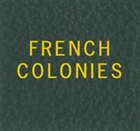 Scott Specialty LABEL For FRENCH COLONIES Binder Gold Lettering Stamp Album NEW