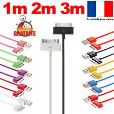 CHARGEUR POUR IPHONE 4 IPHONE 4S CÂBLE USB RENFORCÉ DATA SYNCHRO IPOD IPAD 1M 2M