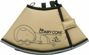 THE  COMFY CONE E-COLLAR FOR DOGS & CATS TAN SIZE SMALL NWTS