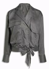 BNWT Next Size 14 Ladies Lightweight Khaki Jacket  Tencel Army Style Pocket Tie