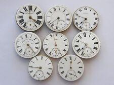 Antico-LOTTO DI x8 Orologio da taschino movimenti-VARIE MARCHE-ricambi/Riparazioni-c1880-1910