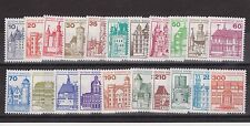 DEUTSCHE BUNDESPOST BERLIN GERMANY MNH SET 21 CASTLES 1977-1987 SG B516-B524d
